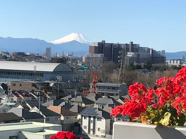 Mt.Fuji from my apartment